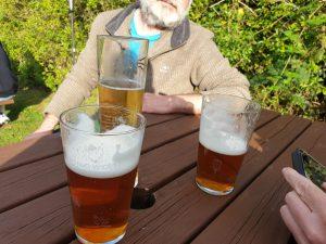 Pub gardens and beer - false memories