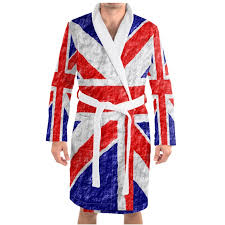 Union jack dressing gown